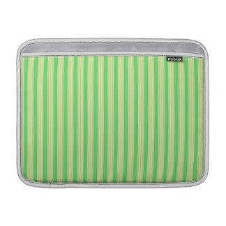 La menta verde femenina raya el modelo fundas MacBook