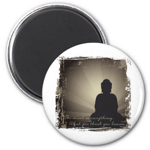 La mente de Buda es todo Imán Redondo 5 Cm