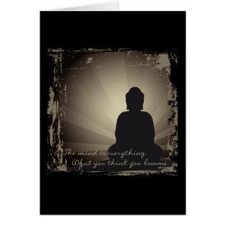 La mente de Buda es todo Felicitación