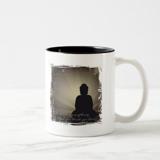 La mente de Buda es todo Taza De Dos Tonos