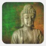 La mente de Buda Pegatina Cuadrada