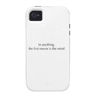 La mente es el primer motor Case-Mate iPhone 4 fundas