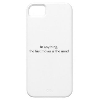 La mente es el primer motor iPhone 5 Case-Mate funda