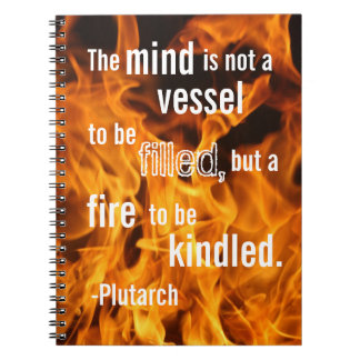 La mente, fuego libreta