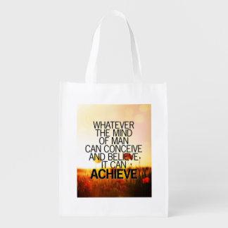 La mente puede alcanzar cita de motivación de la bolsa para la compra