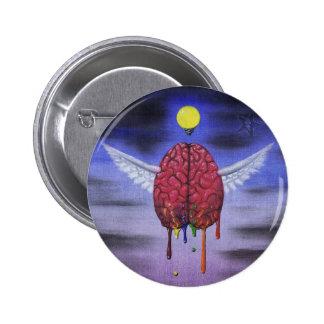la mente tiene botón de las alas pin redondo de 2 pulgadas