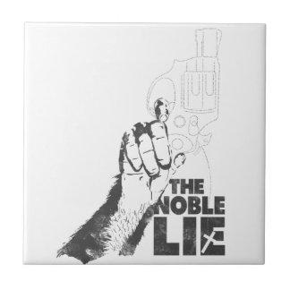 La mentira noble azulejo cuadrado pequeño