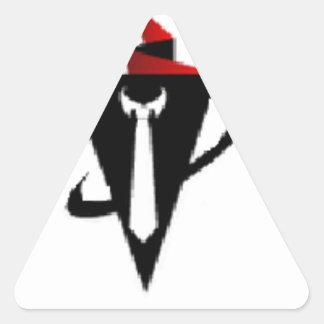 La mercancía oficial del individuo del márketing pegatina triangular