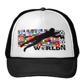 La meta 2010 del mundial señala el gorra por medio