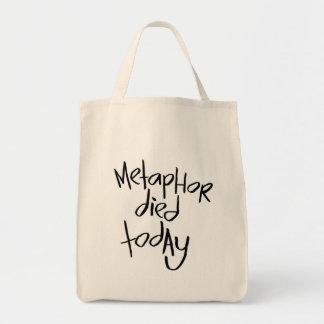 La metáfora murió hoy bolsa lienzo