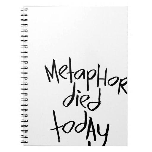 La metáfora murió hoy libro de apuntes