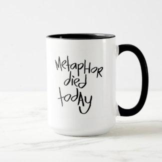 La metáfora murió hoy taza