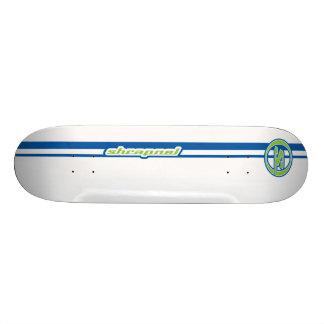 La metralla raya el azul tabla de skate