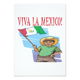 La México de Viva Invitación 12,7 X 17,8 Cm