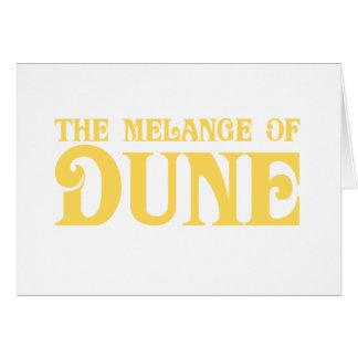 La mezcla de duna tarjeta de felicitación