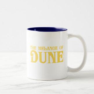 La mezcla de duna taza dos tonos
