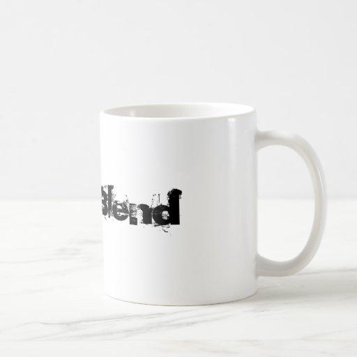 La mezcla del estallido tazas de café