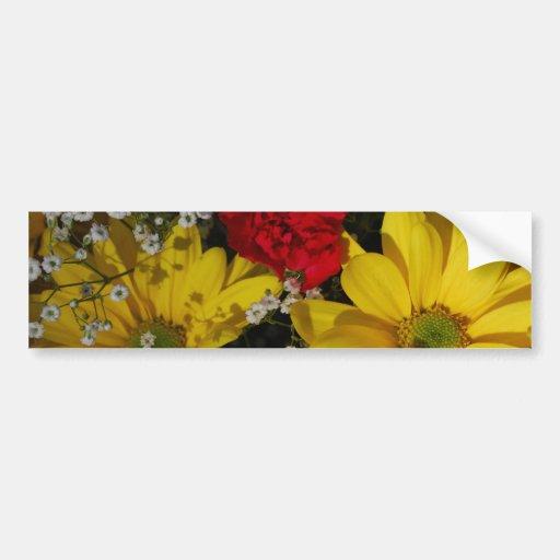 la mezcla florece 4 frecuencia intermedia etiqueta de parachoque