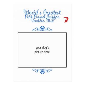 La mezcla pequena más grande de Griffon Vendéen de Tarjeta Postal