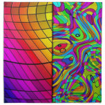 La mezcla tropical colorea servilletas del modelo