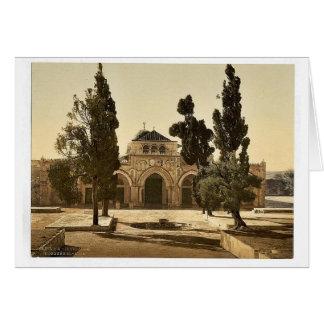 La mezquita de EL-Aksa, Jerusalén, magnif de la Ti Tarjeta De Felicitación