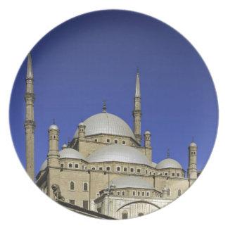 La mezquita de Mohamed Ali en la ciudadela, tambié Plato De Cena