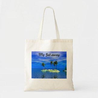 La mi bolsa de asas tropical de la playa de la isl