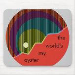 La mi ostra Mousepad colorido del mundo Alfombrilla De Raton