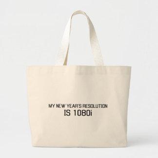 La mi resolución del Año Nuevo es 1080i Bolsa