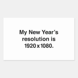 La mi resolución del Año Nuevo Pegatina Rectangular