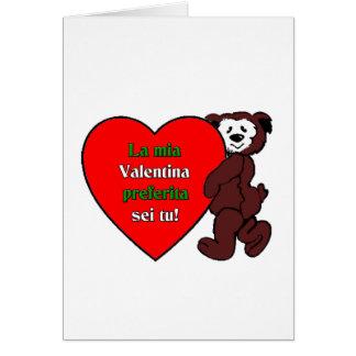 La mia Valentina preferita sei tu! Card