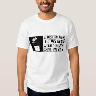 La microbiología sobrevive camisas