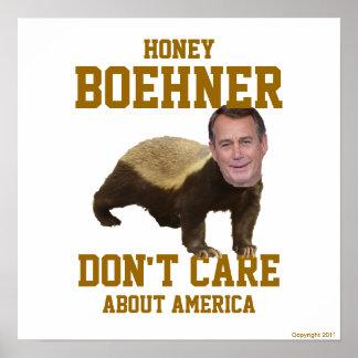 La miel Boehner no cuida el poster grande