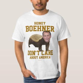 La miel Boehner no cuida la camiseta Playeras