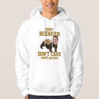 La miel Boehner no cuida sobre la sudadera con