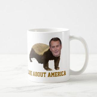 La miel Boehner no cuida sobre la taza de América