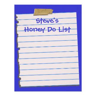 La miel enumera los efectos de escritorio del pape membrete a diseño