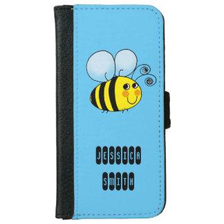 la miel linda manosea la abeja funda cartera para iPhone 6