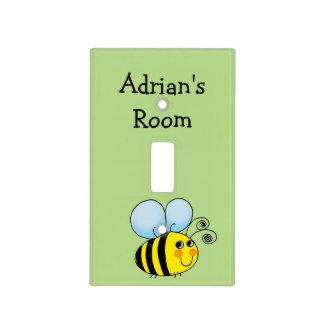 la miel linda manosea la abeja tapa para interruptor