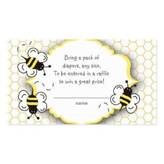 La miel o manosea el boleto de la rifa de la abeja tarjetas de visita