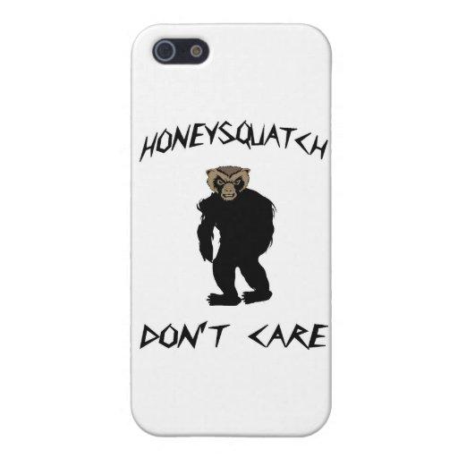 La miel Squatch no cuida iPhone 5 Carcasas