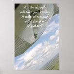 La milla del ala A del aeroplano de camino le toma Poster