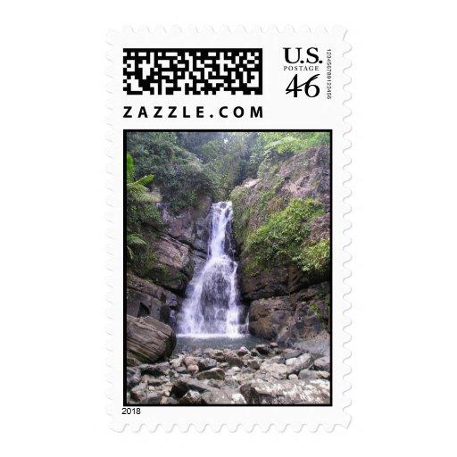 La Mina Falls Stamp