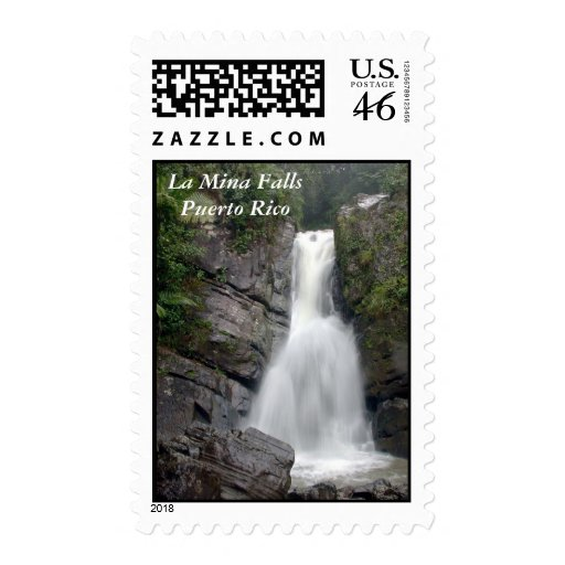 La Mina Falls Postage Stamp