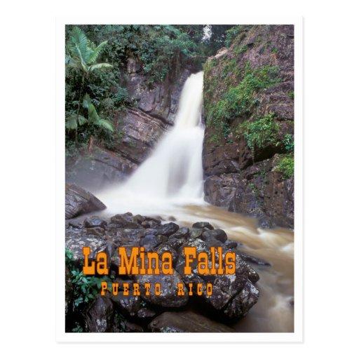 La Mina Falls Post Card