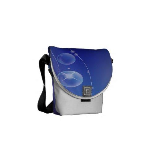 La mini bolsa de mensajero azul bolsas messenger