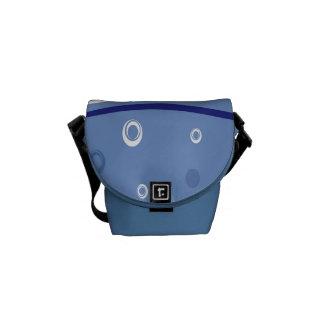 La mini bolsa de mensajero cero del carrito azul d bolsas messenger