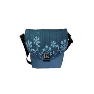 La mini bolsa de mensajero cero del carrito azul y bolsa messenger