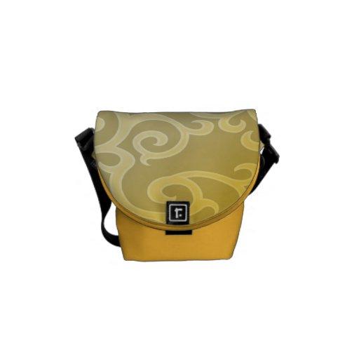 La mini bolsa de mensajero cero del carrito de oro bolsas de mensajeria