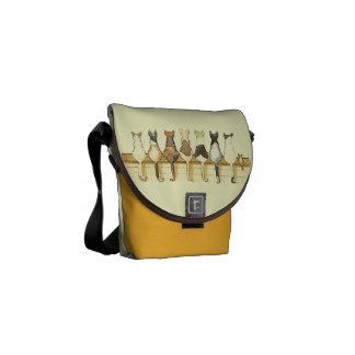 La mini bolsa de mensajero de la formación linda d bolsas messenger